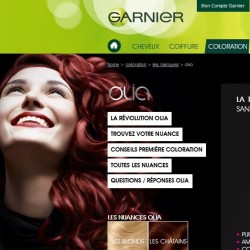 Traduction site internet Garnier